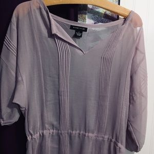 Sheer purple blouse